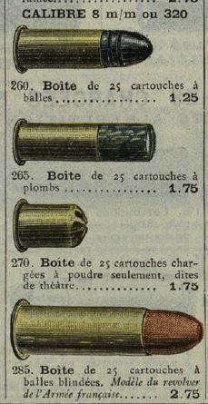 cartouches de ;320 et de 8 mm 92 8mm-210