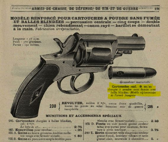cartouches de ;320 et de 8 mm 92 8mm-410