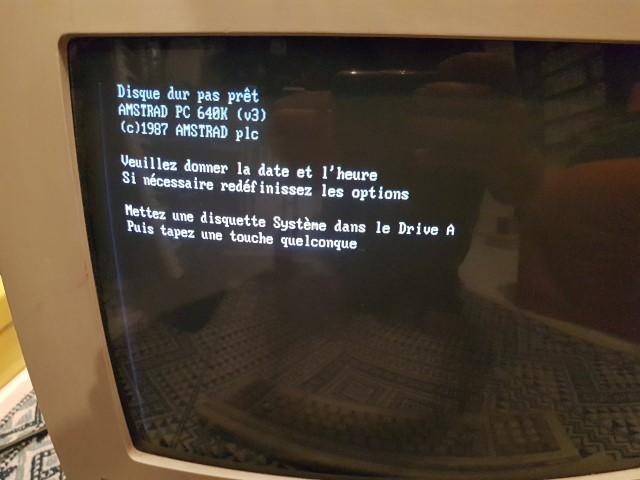Remise en route Amstrad PC1640 HD20 20180332