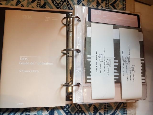 Remise en route Amstrad PC1640 HD20 20180411