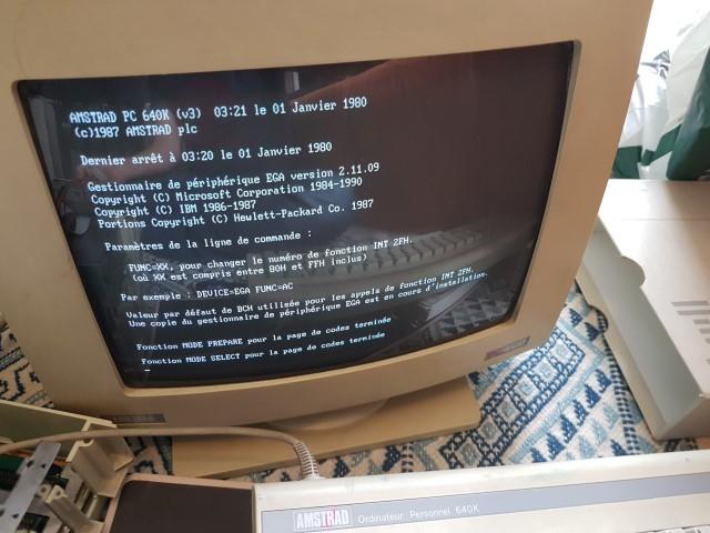 Remise en route Amstrad PC1640 HD20 20180414