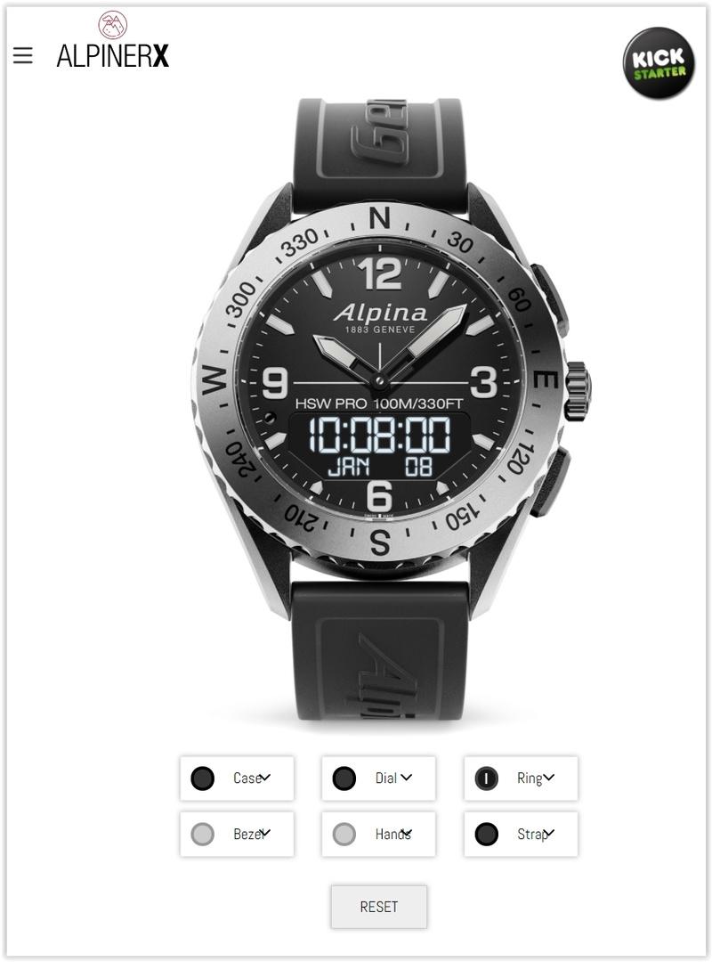 AlpinerX : Nouvelle smartwatch d'Alpina avec lancement Kickstarter Screen45