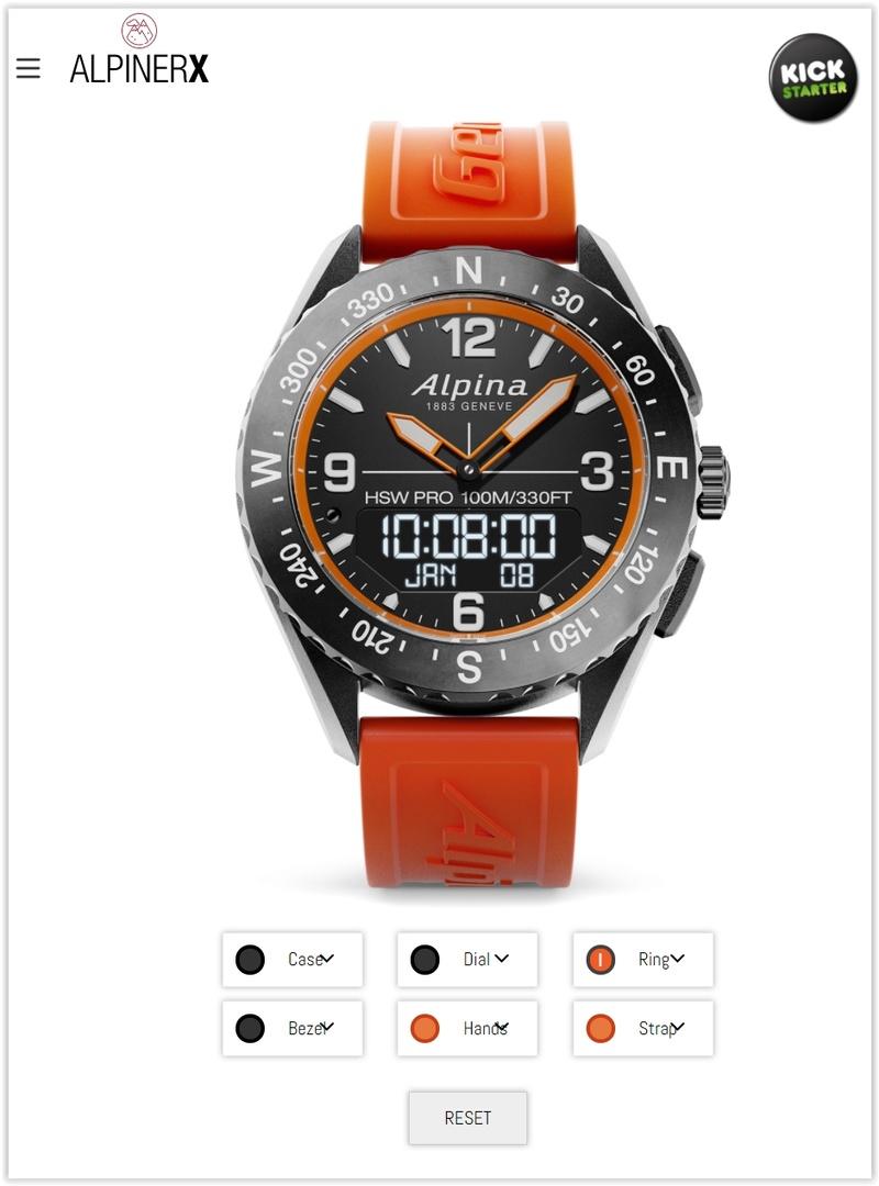 AlpinerX : Nouvelle smartwatch d'Alpina avec lancement Kickstarter Screen46