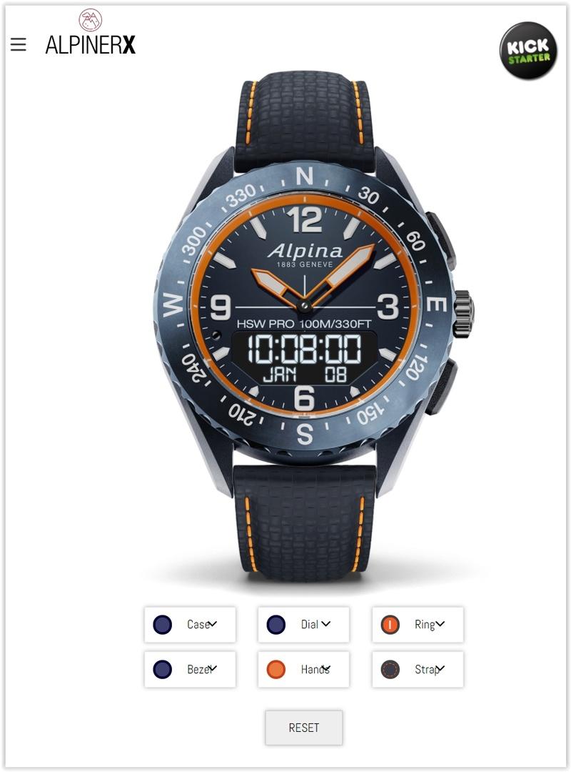 AlpinerX : Nouvelle smartwatch d'Alpina avec lancement Kickstarter Screen47