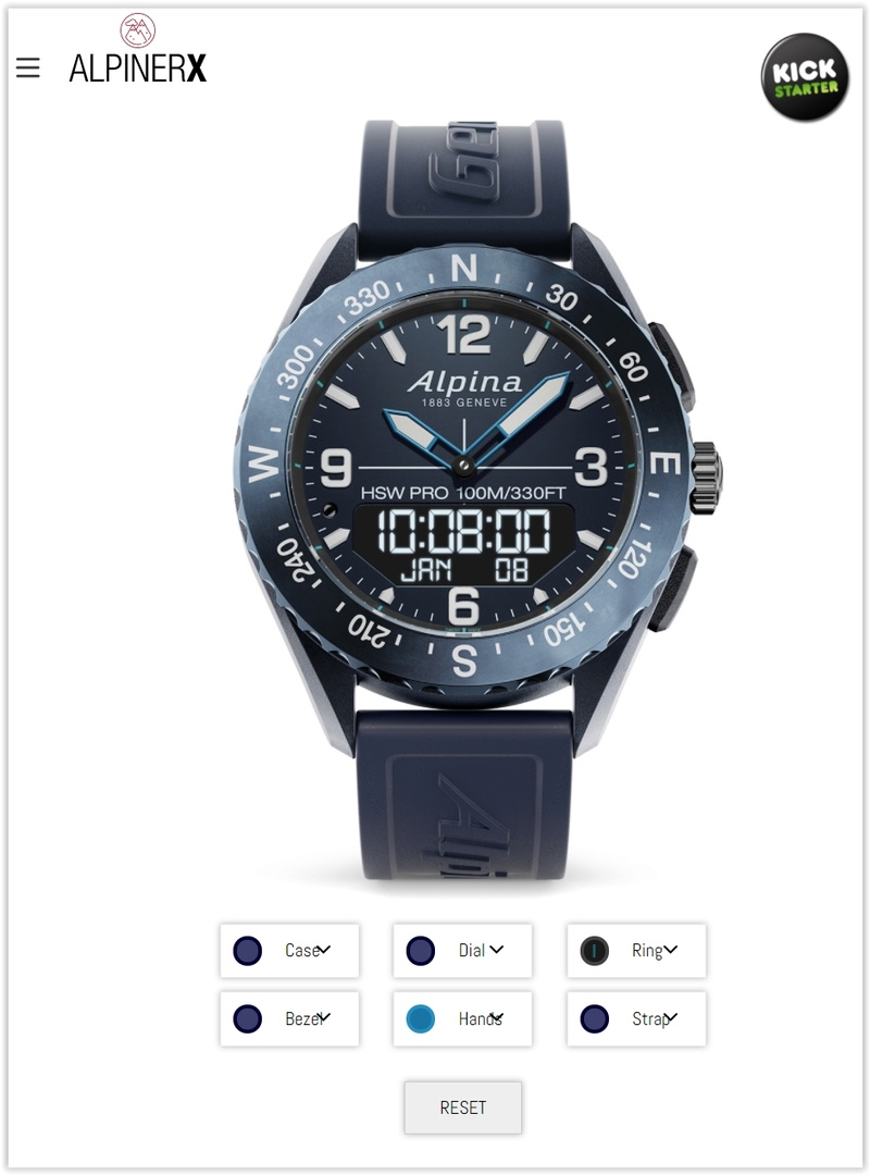 Alpina - AlpinerX : Nouvelle smartwatch d'Alpina avec lancement Kickstarter Screen48
