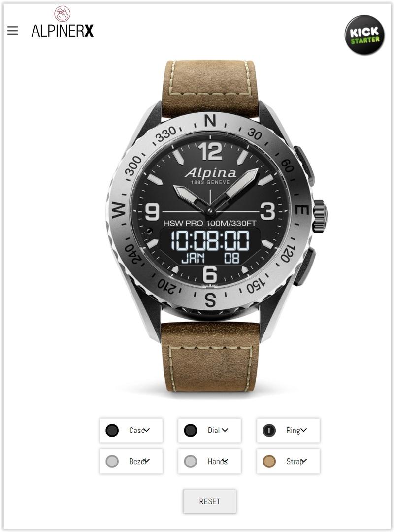 AlpinerX : Nouvelle smartwatch d'Alpina avec lancement Kickstarter Screen49