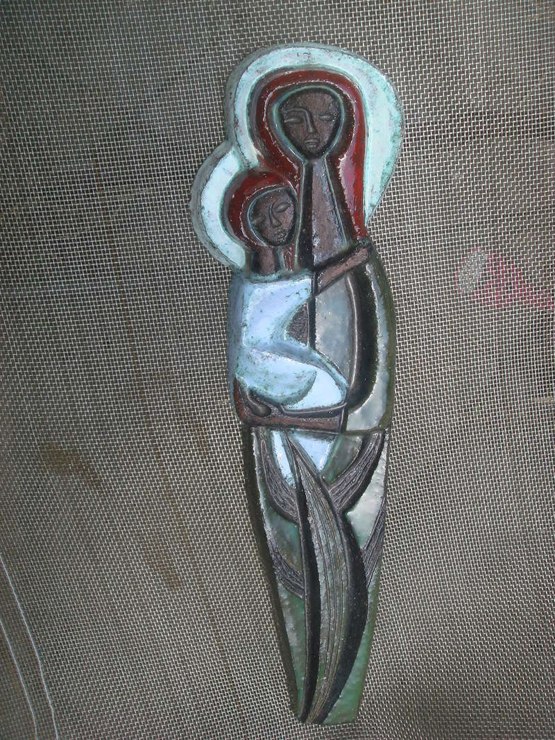 Any ideas...lovely Madonna and child..PV Mark..Scandinavian ? Copied53