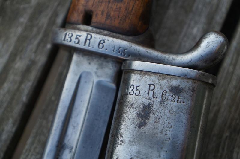 Baïonnette allemande mdl 1898, régimentée 135 RI (Lorraine) Dsc05514