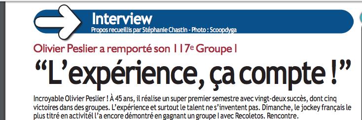 Interview dans Paris Courses Captur45