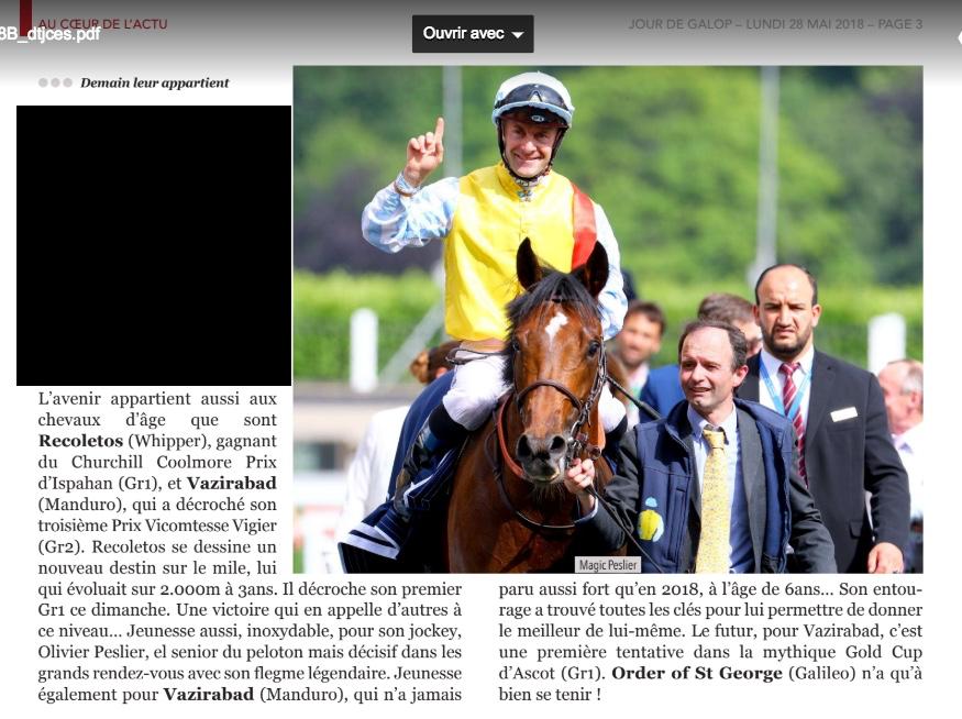 Le compteur de victoires, 2764, 27/05/18, Recoletos Recole10