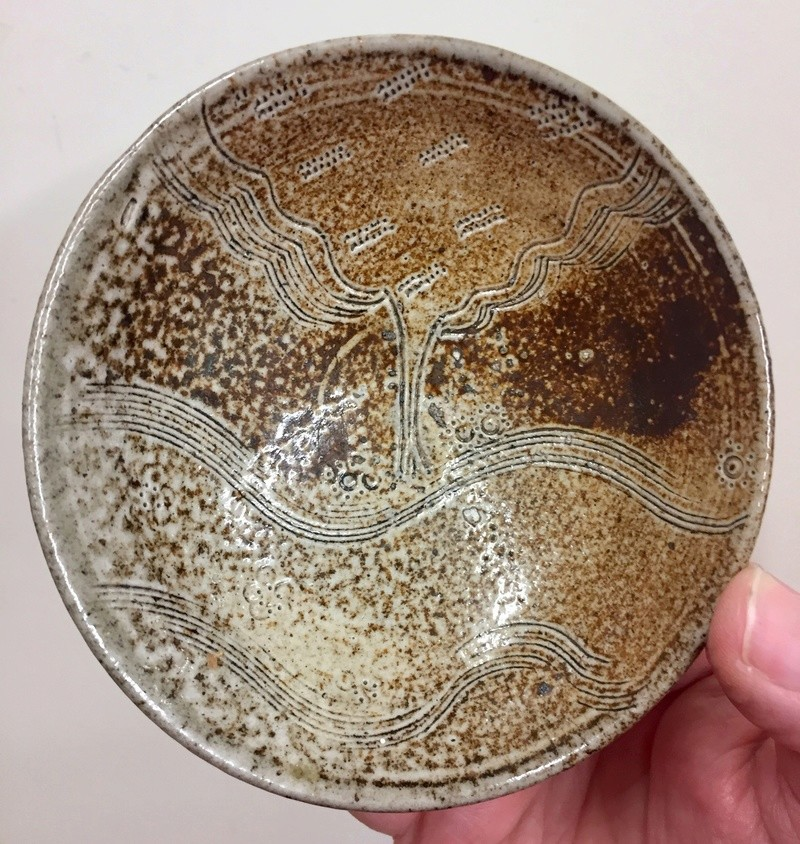 Pin dish with inscribed tree pattern - probably Shelia Casson 4cf5f010