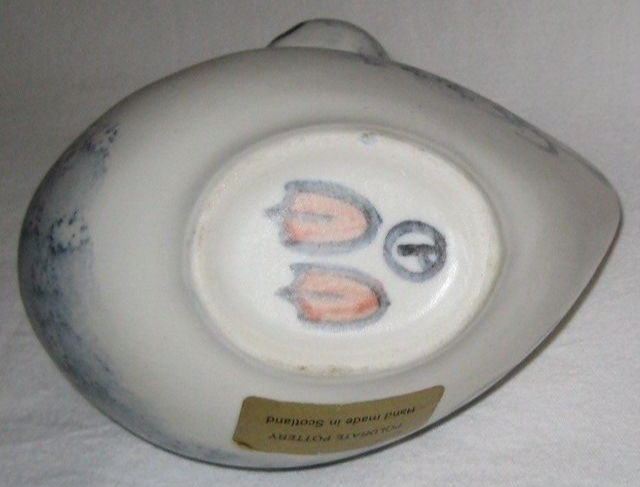 Duck sauce boat or vase by Poldrate Pottery, Scotland  5b330610