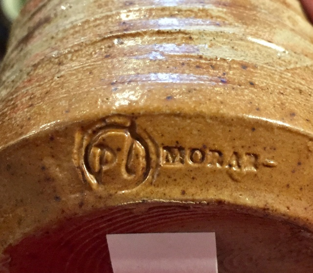 Early Peter Layton, Morar Pottery, PL mark  5ed99610