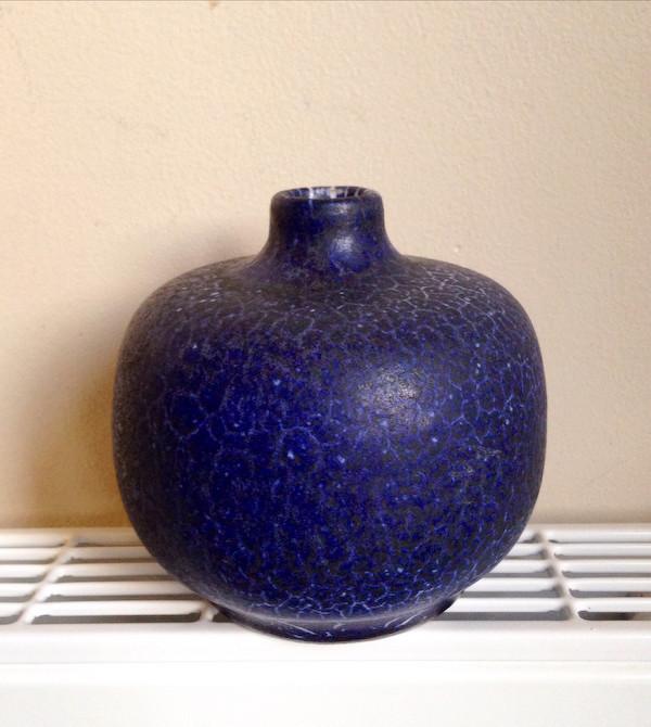 Blue vase - German? - albert kiessling? Egerma13