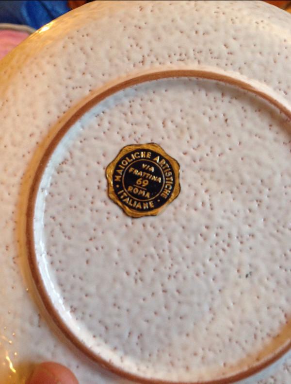 Italian artisan plate Img_6821