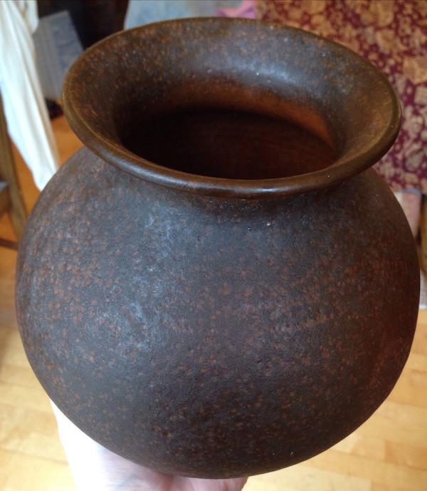 Large German brown pot signed Hayes - Toepferei Hartwig Heyne  Img_6934