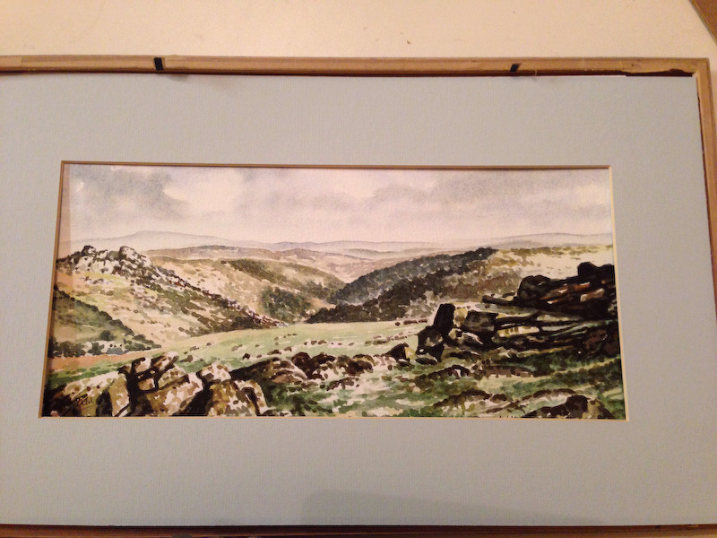Watercolour signed David Whittley The Dart Valley Img_7027