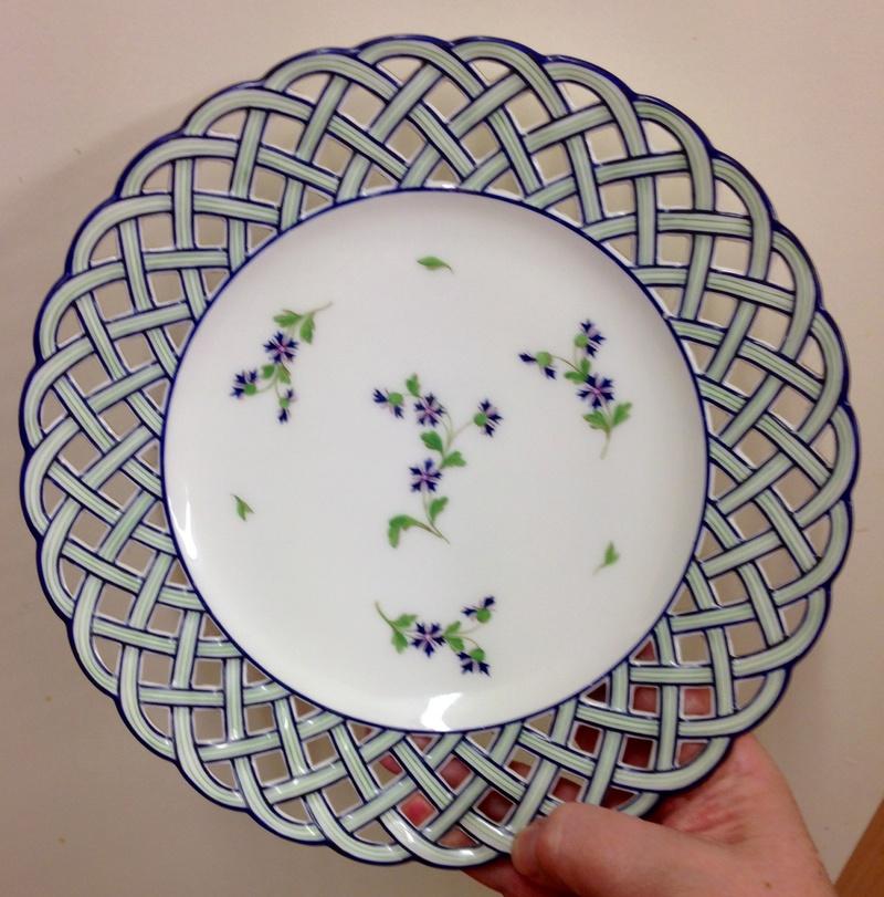 Pierced plate by Charles Pillivuyt, retailed by Escalier de Cristal, Paris  Img_7226