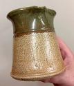 Unmarked salt glazed jug; distinctive handle  1d239910