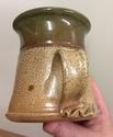 Unmarked salt glazed jug; distinctive handle  2f791310