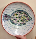 Maiolica dish with fish & crabs by Mike Strange, St Albans  54ea1910