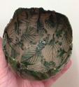 Green vase, leaf impressions, K mark  Img_5212