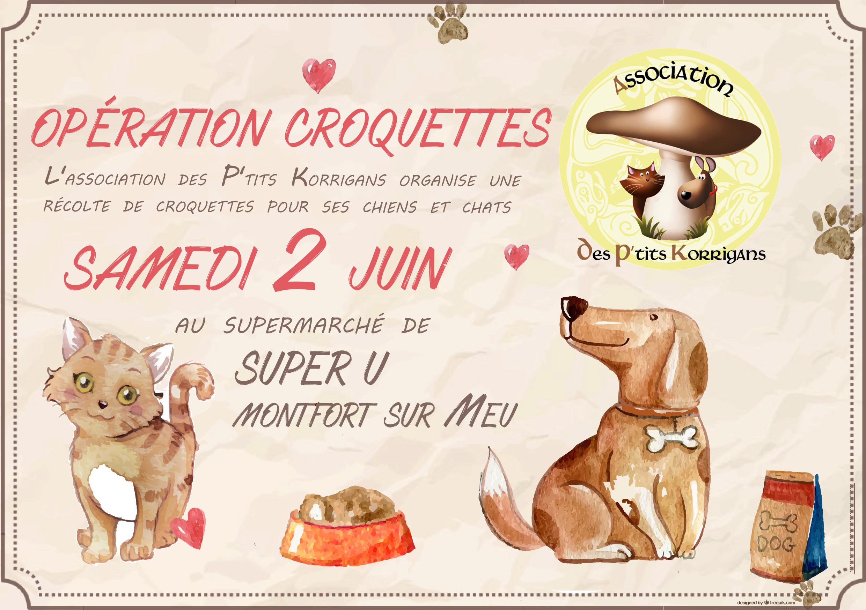 SAMEDI 2 JUIN 2018 - Opération CADDIE / Collecte de croquettes - Super U Montfort-S-Meu Opy_cr10