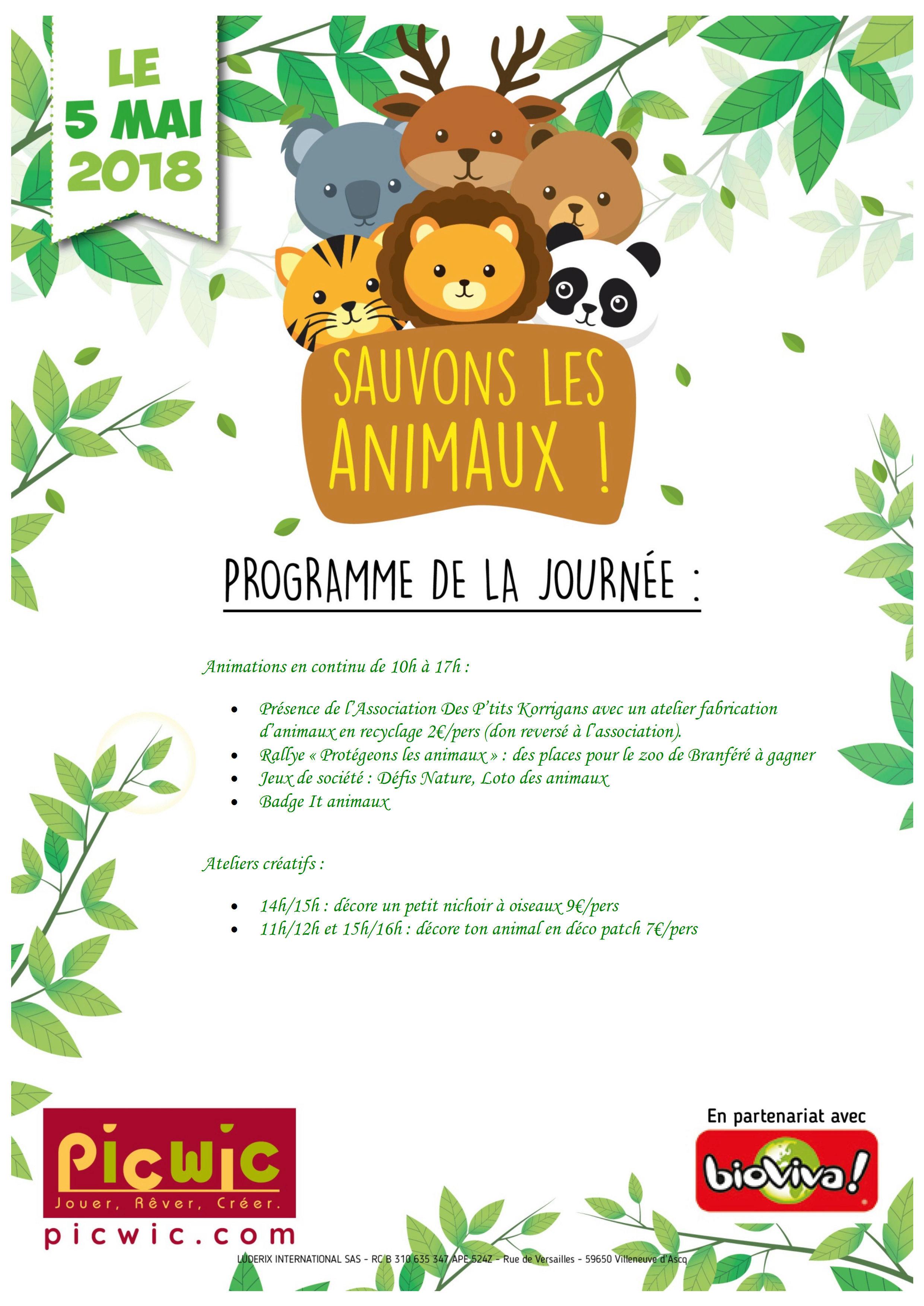SAMEDI 05 MAI 2018 - Journée sensibilisation des enfants à la cause animale Progra10