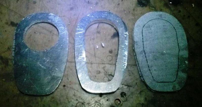 Fabrication d'un élargisseur de pied de béquille latérale 1010