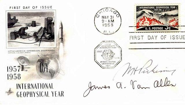 Philatélie spatiale USA - 1958 - Timbre IGY / International Geophysical Year 1958_010