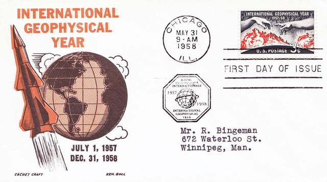 Philatélie spatiale USA - 1958 - Timbre IGY / International Geophysical Year 1958_012