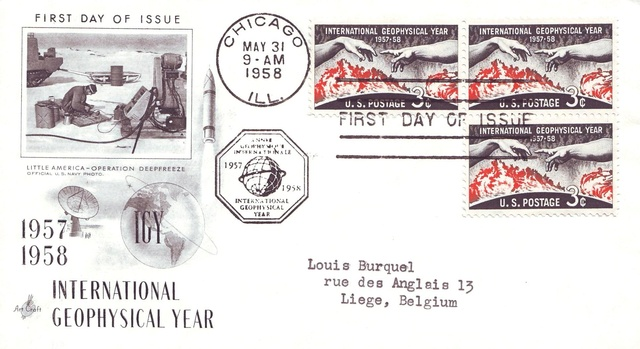 Philatélie spatiale USA - 1958 - Timbre IGY / International Geophysical Year 1958_013