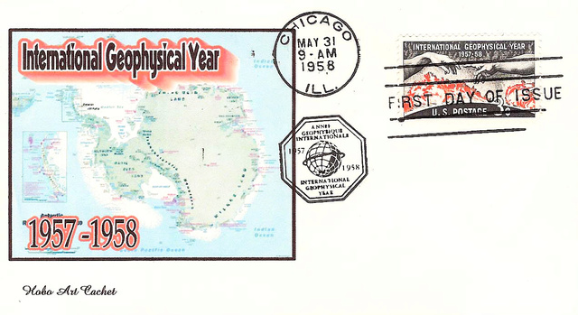 Philatélie spatiale USA - 1958 - Timbre IGY / International Geophysical Year 1958_015