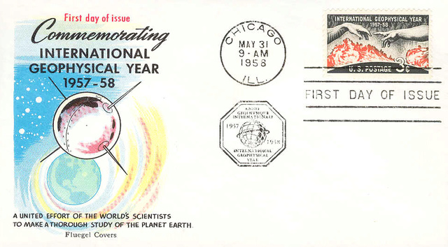 Philatélie spatiale USA - 1958 - Timbre IGY / International Geophysical Year 1958_016