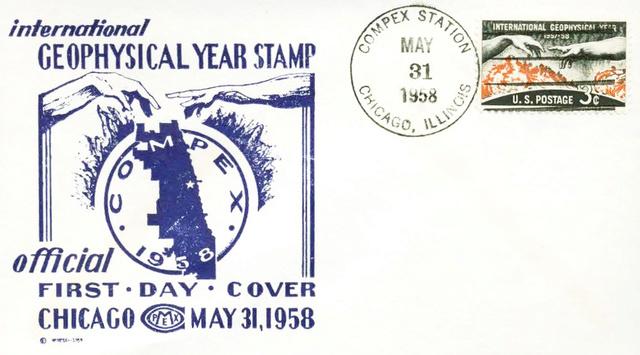 Philatélie spatiale USA - 1958 - Timbre IGY / International Geophysical Year 1958_017