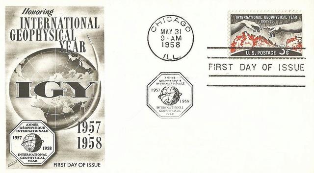 Philatélie spatiale USA - 1958 - Timbre IGY / International Geophysical Year 1958_018