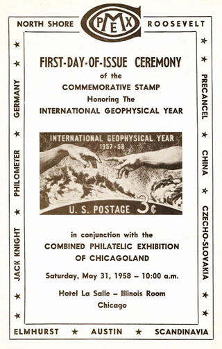 Philatélie spatiale USA - 1958 - Timbre IGY / International Geophysical Year 1958_019