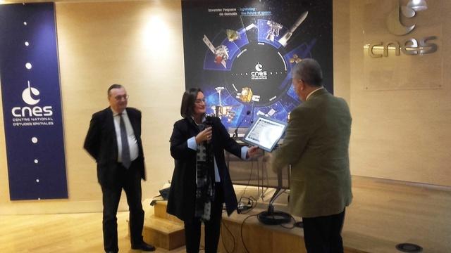Remise du Prix Aubinière de l'IFHE (Institut Français d'Histoire de l'Espace) au siège du CNES - 7 décembre 2017 20171212