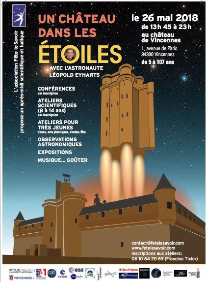 """26 mai 2018 - """"Un château dans les etoiles"""" avec Léopold Eyharts à Vincennes (94) Ddiy5w11"""