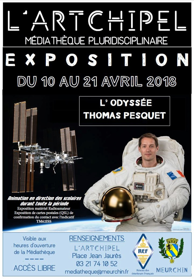 [Expo] L'Odyssée Thomas Pesquet du 10 au 21 avril 2018 - Médiathèque de Meurchin (62) Expo_m11