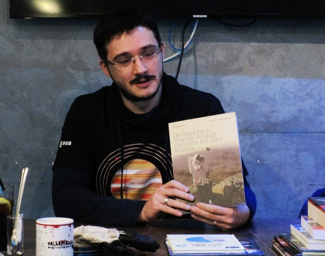 7 avril 2018 - Séance de dédicaces des auteurs Pierre-François Mouriaux et Eric Bottlaender à Paris (75) Img_0017