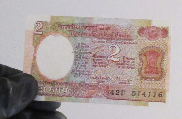 Inde - Billet de 2 roupies Satellite Arabyatha / 1985 Inde_b10