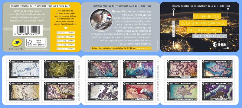 Carnet de timbres Thomas Pesquet - 4 juin 2018 Pesque12