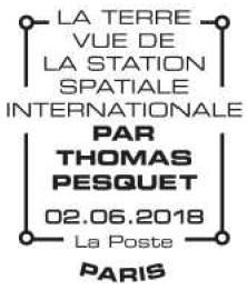 Carnet de timbres Thomas Pesquet - 4 juin 2018 Pesque13