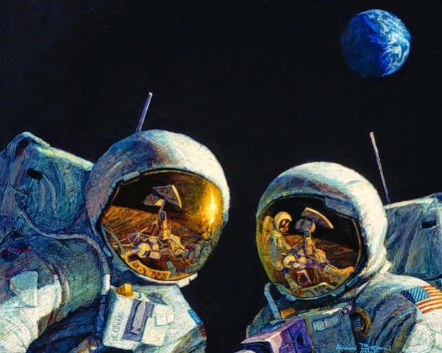Disparition de l'astronaute Alan Bean (1932-2018), 4ème homme à marcher sur la Lune Please10