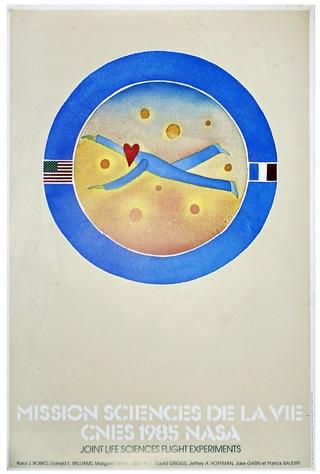 Logo ''Sciences de la vie'' par Jean-Michel Folon / Mission de Patrick Baudry 1985 Poster10
