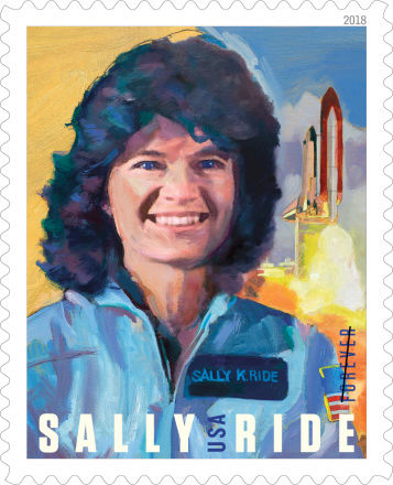 La poste américaine va émettre en 2018 un timbre pour commémorer l'astronaute Sally Ride (1951-2012) Pr17_011