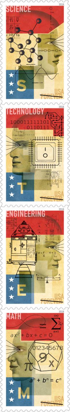 La poste américaine va émettre en 2018 une série STEM (avec un timbre Apollo) Pr17_012