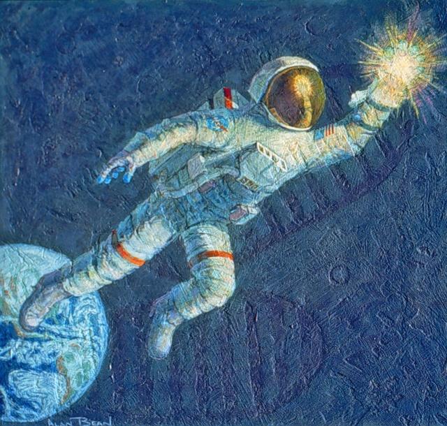 Disparition de l'astronaute Alan Bean (1932-2018), 4ème homme à marcher sur la Lune Reachi10
