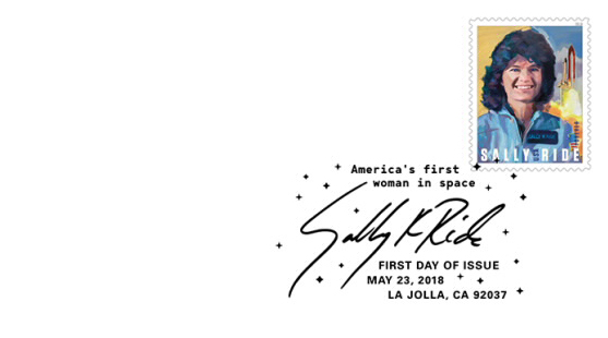 La poste américaine va émettre en 2018 un timbre pour commémorer l'astronaute Sally Ride (1951-2012) Ride_210